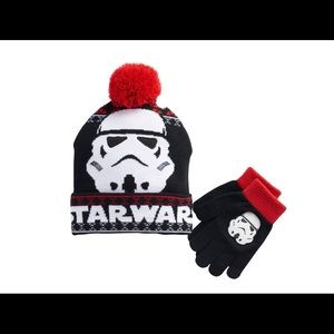 Boys Star Wars Storm Trooper Hat and Gloves Set